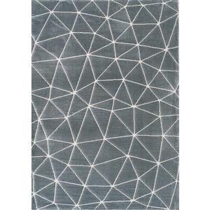 Tapis Sabine dome de Kalora, 8' x 11', bleu