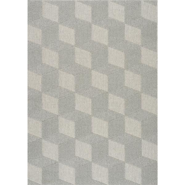 Tapis texturé Ridge de Kalora, 5' x 8', gris