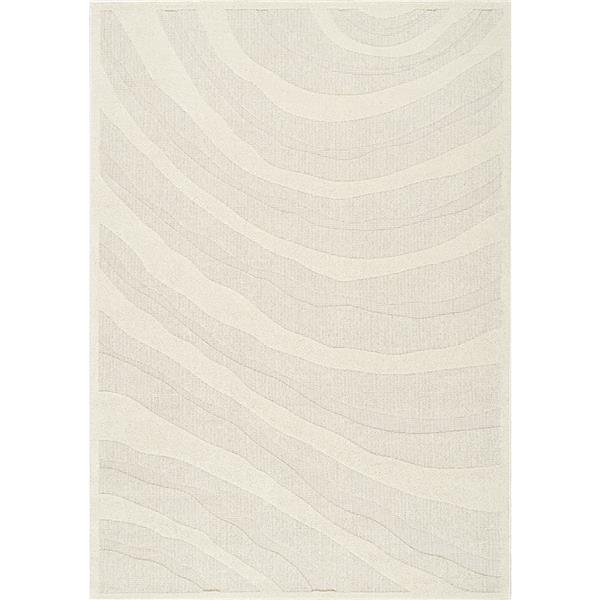 Tapis texturé Ridge de Kalora, 8' x 11', crème