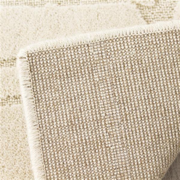Tapis texturé Ridge de Kalora, 5' x 8', crème