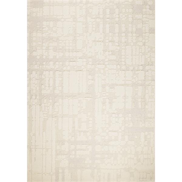 Tapis texturé Ridge de Kalora, 2' x 4', crème