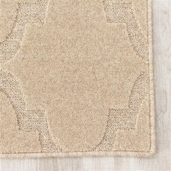 Tapis texturé Ridge Ogee de Kalora, 8' x 11', beige