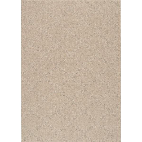 Tapis texturé Ridge Ogee de Kalora, 5' x 8', beige