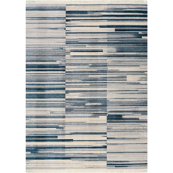 Tapis à franges Promenade de Kalora, 8' x 11', gris