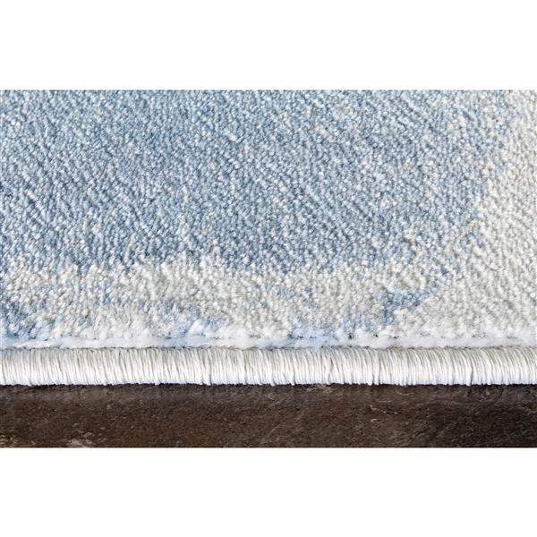 Tapis Platinum rideaux de Kalora, 8' x 11', blanc