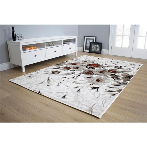Kalora Platinum Thicket Rug - 5' x 8'- White