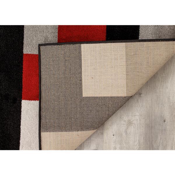 Tapis Platinum blocs de Kalora, 8' x 11', rouge
