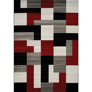 Kalora Platinum Blocks Rug - 7' x 10' - Red