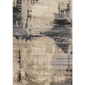 Tapis Platinum bio de Kalora, 5' x 8', beige