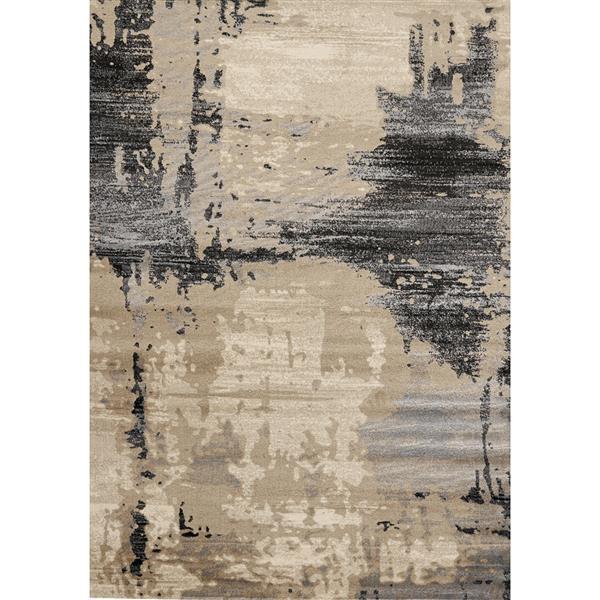 Tapis Platinum bio de Kalora, 7' x 10', beige