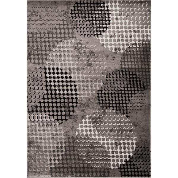 Tapis Platinum de Kalora, 8' x 11', gris