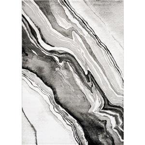 Tapis Platinum fil de bois de Kalora, 8' x 11', gris
