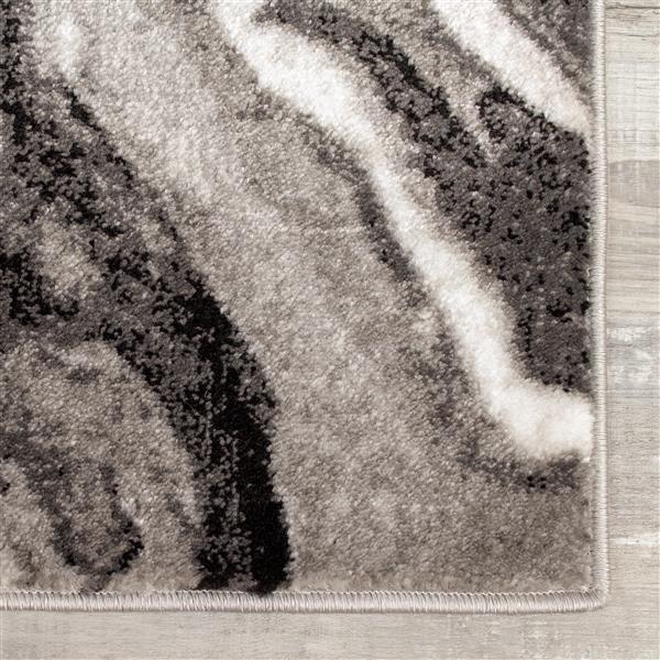 Tapis Platinum fil de bois de Kalora, 5' x 8', gris