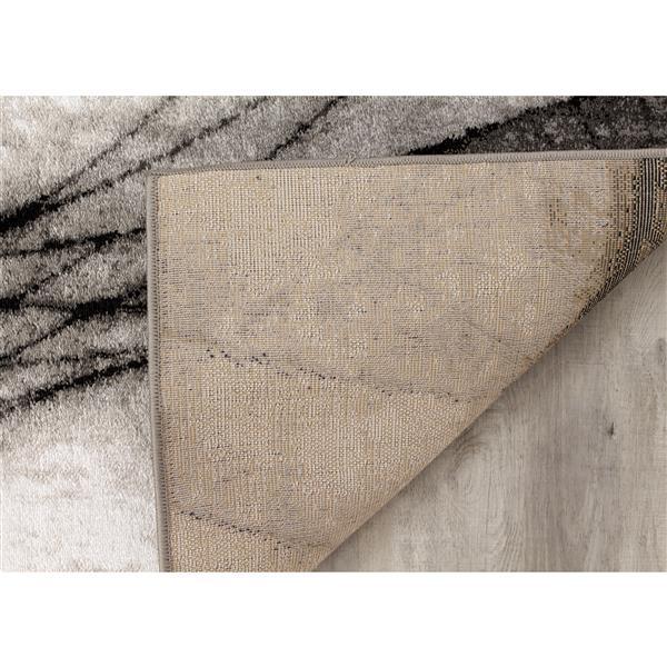 Tapis Platinum fracture de Kalora, 8' x 11', gris