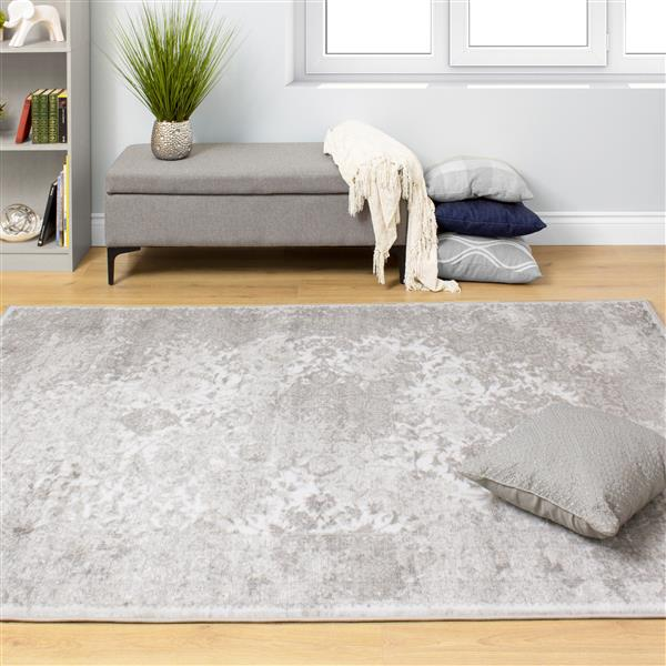 Tapis Platinum transitionnel de Kalora, 5' x 8' , gris