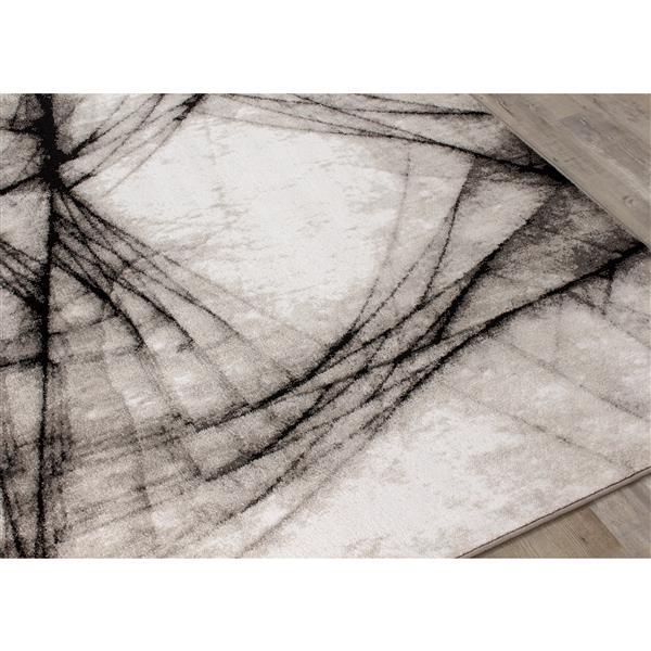 Tapis Platinum fracture de Kalora, 5' x 8', gris