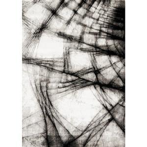 Tapis Platinum fracture de Kalora, 3' x 5', gris