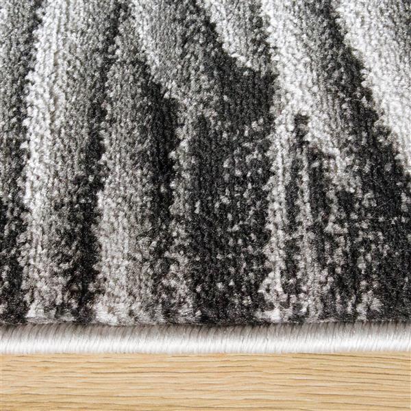 Tapis Platinum plumes de Kalora, 8' x 11', gris