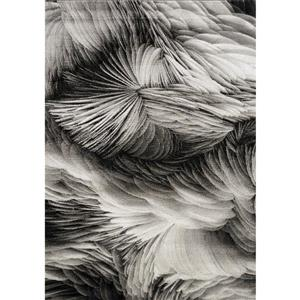 Tapis Platinum plumes de Kalora, 5' x 8', gris