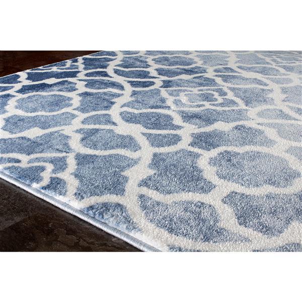 Tapis Platinum treillage de Kalora, 8' x 11', bleu