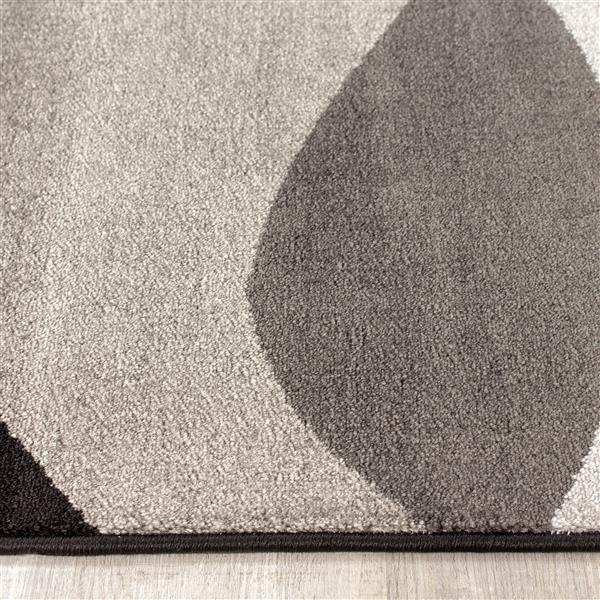 Tapis Platinum congère de Kalora, 3' x 5', gris