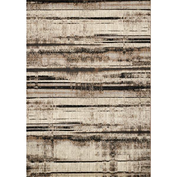 Kalora Platinum Distressed Stripes Rug - 8' x 11' - Beige