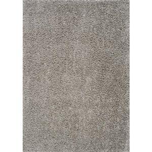 Tapis à polis longs Plateau de Kalora, 8' x 11', gris pâle