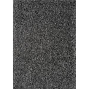 Tapis à polis longs Plateau de Kalora, 2' x 4', gris foncé