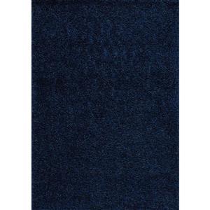 Tapis à polis longs Plateau de Kalora, 5' x 8', bleu