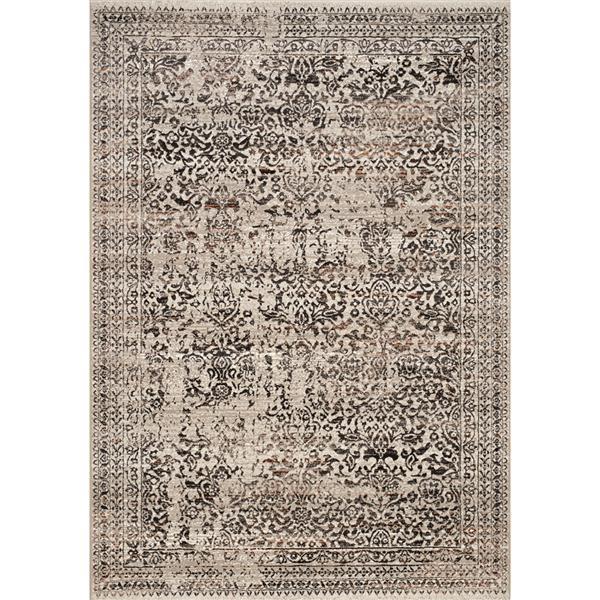 Tapis Parlour traditionnel délavé de Kalora, 8' x 11', gris
