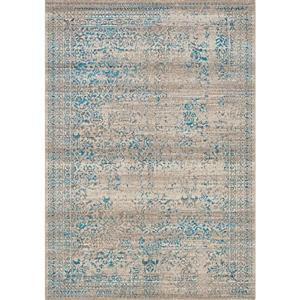Kalora Parlour Distressed Traditional Rug - 2' x 4' - Blue