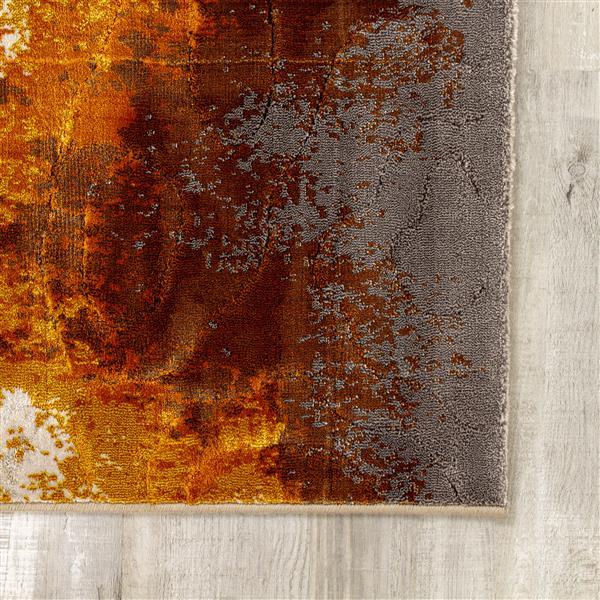 Tapis Parlour délavé de Kalora, 8' x 11', crème