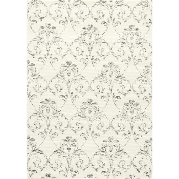 Tapis Palace subtil de Kalora, 2' x 4', blanc