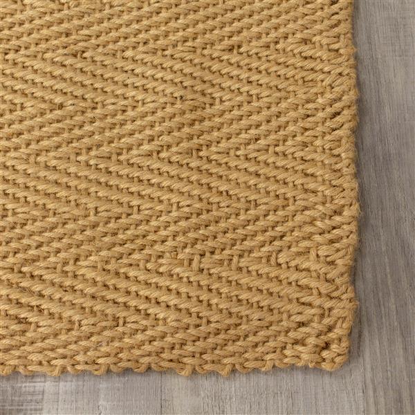 Tapis jute à chevron de Kalora, 8' x 11', beige