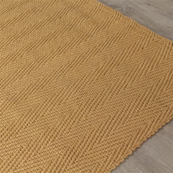 Tapis jute à chevron de Kalora, 3' x 5', beige