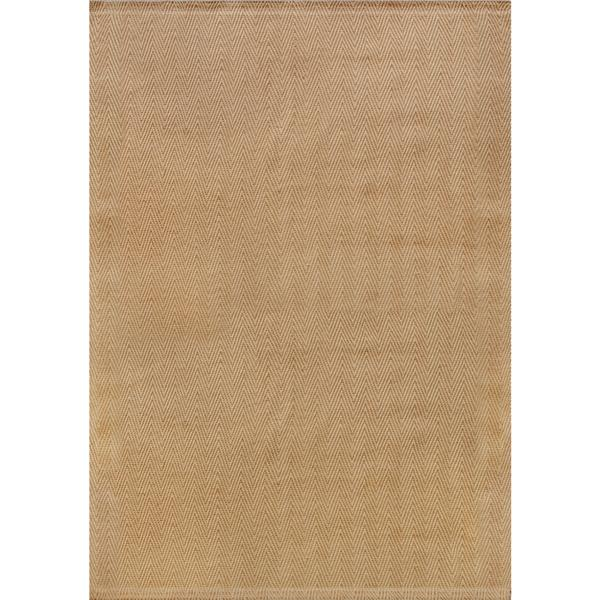 Kalora Naturals Jute Herringbone Rug - 3' x 5' - Beige