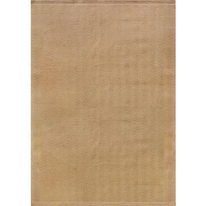 Tapis jute à chevron de Kalora, 5' x 8', beige