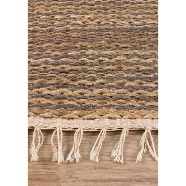 Tapis jute tressé naturel de Kalora, 5' x 8', beige