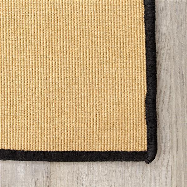 Tapis micro bouclé naturel de Kalora, 8' x 11', beige