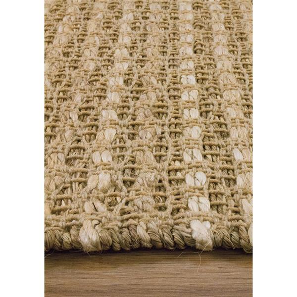 Tapis tissage complexe Naturals de Kalora, 8' x 11', beige