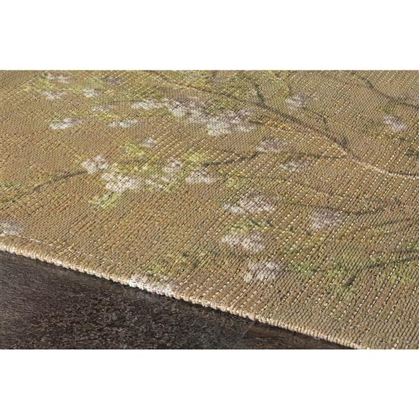 Tapis à fleurs Morello de Kalora, 5' x 8', vert