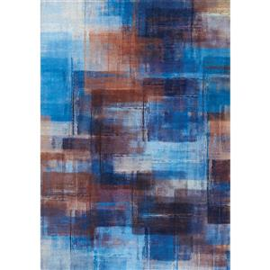 Tapis Morello de Kalora, 5' x 8', bleu
