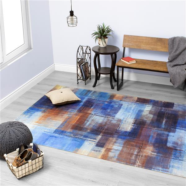Tapis Morello de Kalora, 2' x 4', bleu