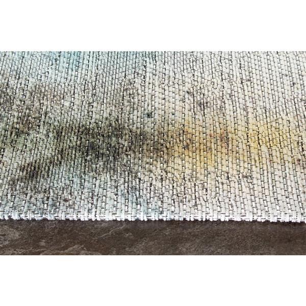 Tapis à fleurs délavé Morello de Kalora, 5' x 8', beige
