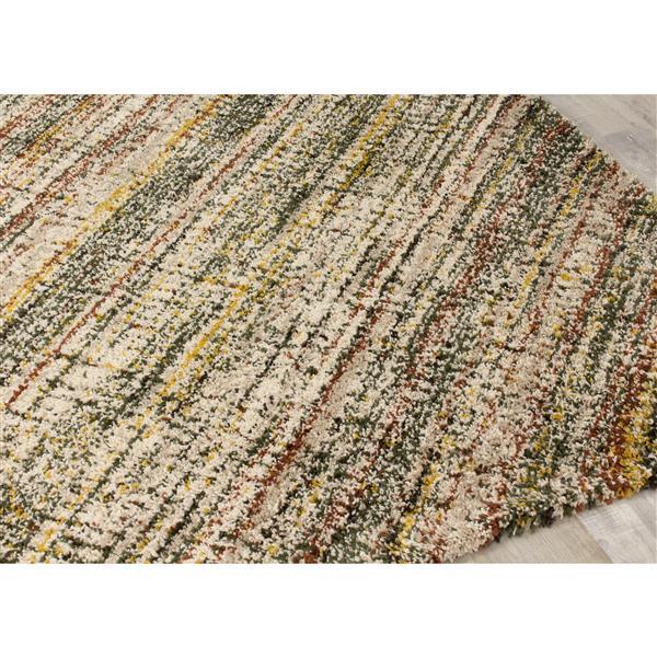 Tapis Maroq hachure croisée de Kalora, 5' x 8', beige