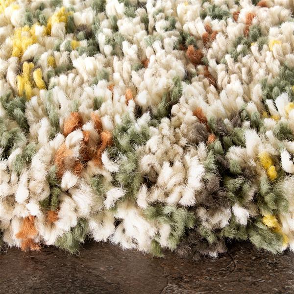 Tapis Maroq hachure croisée de Kalora, 8' x 11', beige
