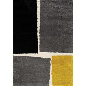 Tapis à motif carrés Maroq de Kalora, 5' x 8', gris