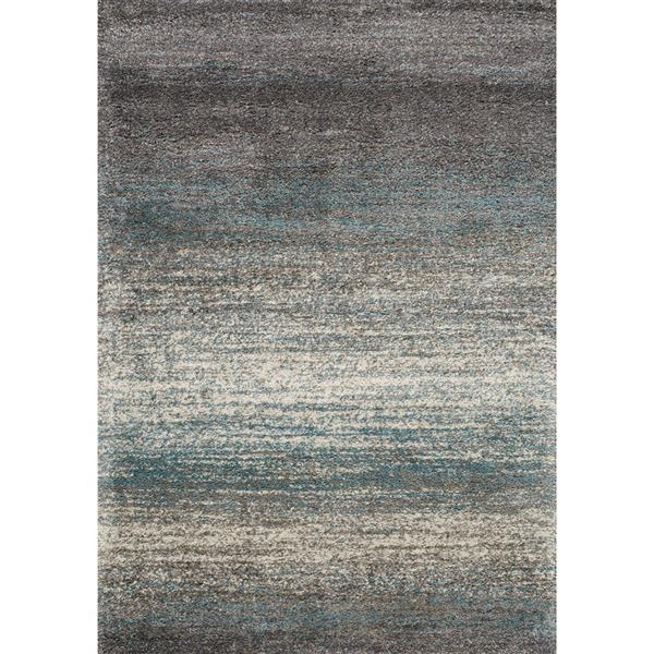 Tapis à bandes délavé Maroq de Kalora, 8' x 11', gris