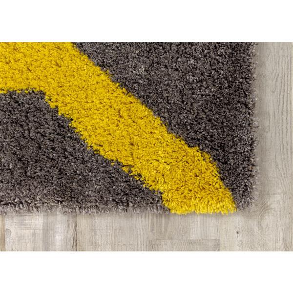 Tapis à angles droit Maroq de Kalora, 5' x 8', gris