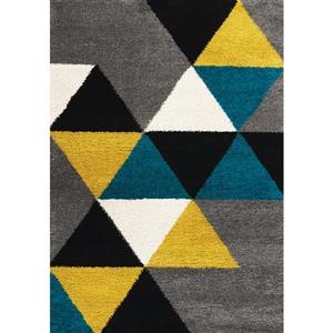 Tapis à triangles colorés Maroq de Kalora, 5' x 8', jaune